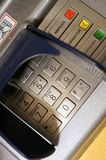 ATM or cash machine. With letters and numbers Royalty Free Stock Photos