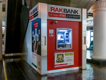 ATM cash machine in Dubai. ATM cash machine in shopping center in Dubai, United Arab Emirates stock photo