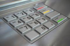 ATM cash machine keypad background stock illustration
