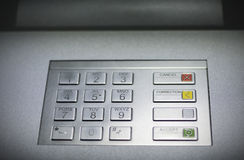 ATM cash machine keypad. In the city center Stock Images
