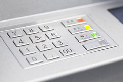 ATM cash machine pin code Stock Photography