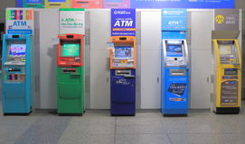 ATM cash machine Thailand. ATM cash dispenser machine in Bangkok Thailand Royalty Free Stock Images