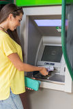 ATM cash to scene -  withdrawals . Royalty Free Stock Photography