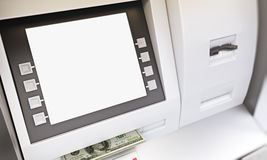 ATM cash withdrawal Stock Photography