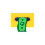 ATM Cashout ikona Mieszkanie stylowa wektorowa ilustracja Obraz Royalty Free