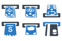 ATM Cashpoint Flat Vector Icons Stock Photos
