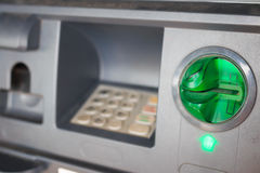ATM close-up Royalty Free Stock Photo