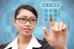 ATM-Code Stockfoto