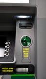 ATM com instruções imagem de stock