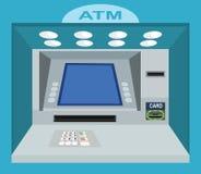 ATM Com a tela vazia na parede Fotos de Stock Royalty Free