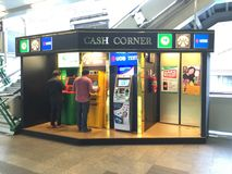 ATM corner Stock Photography