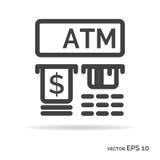 ATM-de zwarte kleur van het overzichtspictogram Royalty-vrije Stock Foto