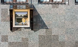 ATM in der Wand Lizenzfreie Stockfotografie