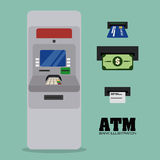 Atm design Stock Image