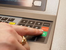 ATM dials Royalty Free Stock Images