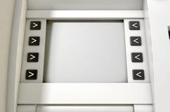 ATM ekranu puste miejsce Obrazy Royalty Free