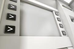 ATM ekranu puste miejsce Zdjęcie Royalty Free