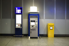 ATM en brievenbus Royalty-vrije Stock Foto