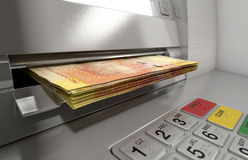Atm Facade Cash Withdrawel Royalty Free Stock Photography