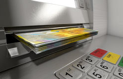 Atm Facade Cash Withdrawel Royalty Free Stock Images