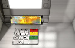 Atm Facade Cash Withdrawel Stock Image