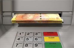 ATM-Fassaden-Bargeld Withdrawel Stockfotos