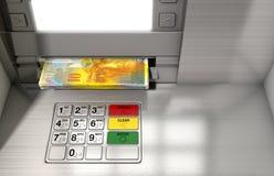 ATM-Fassaden-Bargeld Withdrawel Stockbild