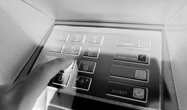 ATM-Fehlerproblem haben kein Geld oder Konzept außer Dienst Lizenzfreie Stockbilder