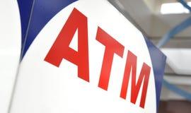 ATM-Geld-Maschinen-Nahaufnahme Stockfoto