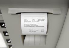 ATM-het Ontvangstbewijs van Misstapwithdrawel Royalty-vrije Stock Foto