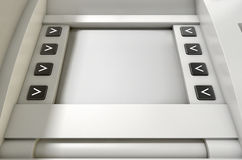 ATM-het Schermspatie Royalty-vrije Stock Afbeelding