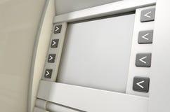 ATM-het Schermspatie Royalty-vrije Stock Foto