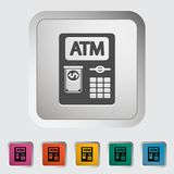 ATM icon. ATM. Single icon. Vector illustration stock illustration
