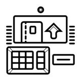 Atm icon vector royalty free illustration