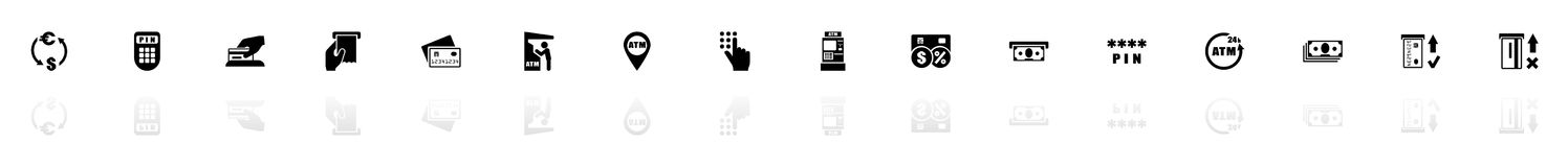 Atm - Flat Vector Icons stock illustration