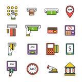 ATM icons vector set. Stock Photos