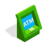 ATM-Ikone, isometrische Art 3d Stockfotos