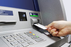 ATM insert card Royalty Free Stock Photo