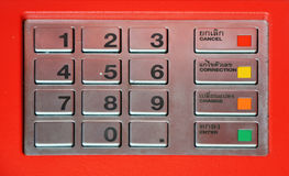 ATM key pad Royalty Free Stock Image