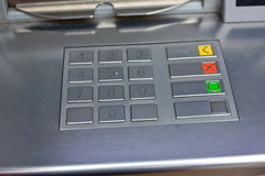 ATM keyboard Royalty Free Stock Photo