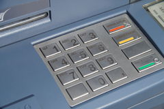 ATM keyboard or keypad cash machine - banking numbers Royalty Free Stock Images