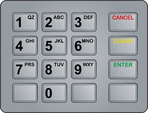 Free Atm Keypad Royalty Free Stock Photo - 11242995