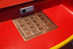 ATM keypad Stock Photo