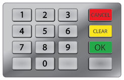 ATM keypad. Pin keypad used on atm royalty free illustration