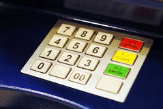 ATM Keypad Royalty Free Stock Image
