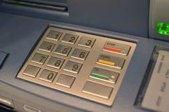 ATM Keypad. Automated Teller Machine Keypad in Bank Stock Photography