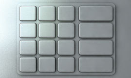 ATM Keypad Closeup. Closeup view of a generic blank atm keypad Royalty Free Stock Image