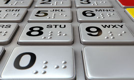 ATM Keypad Closeup Stock Photo