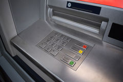 ATM keypad. Keyboard of automated teller machine Stock Image