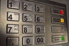 ATM klawiatura zdjęcia royalty free